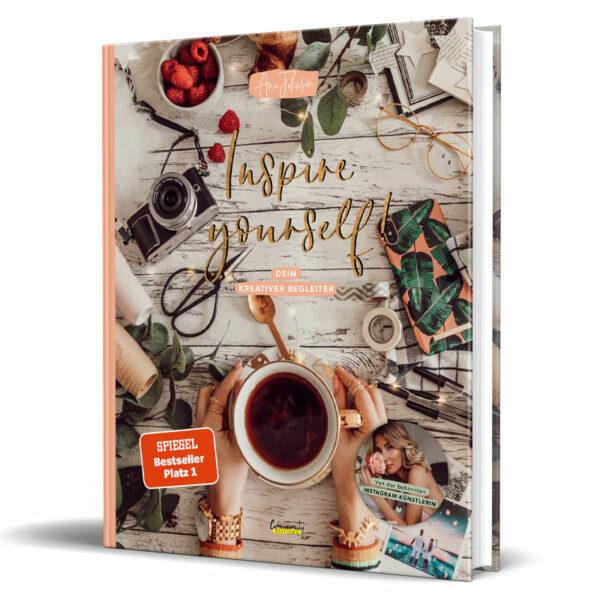 Cover vom Kreativbuch von Influencerin Ana Johnson - Inspire Yourself!