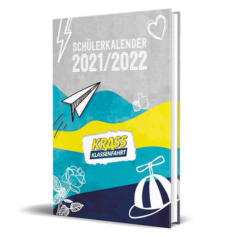 Cover vom Schülerkalender 2021/2022 von Krass Klassenfahrt