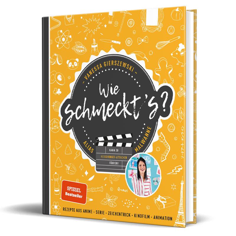 Cover vom Kochbuch von Influencerin Malwanne - Wie schmeckt's?