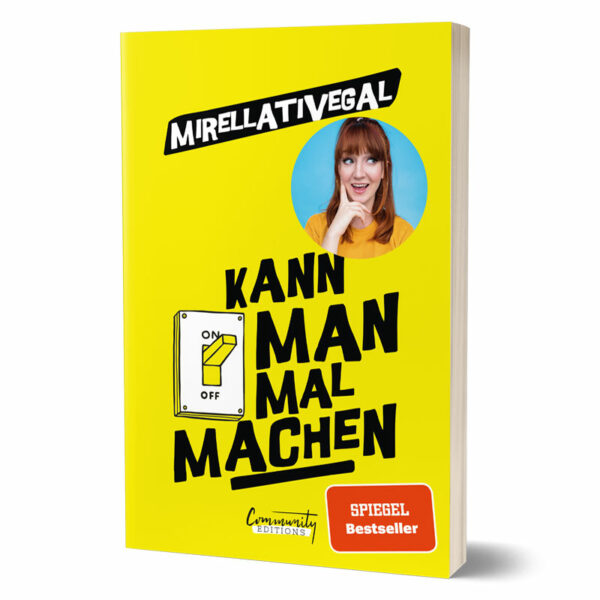 Cover vom Buch von Influencerin Mirellativegal - Kann man mal machen