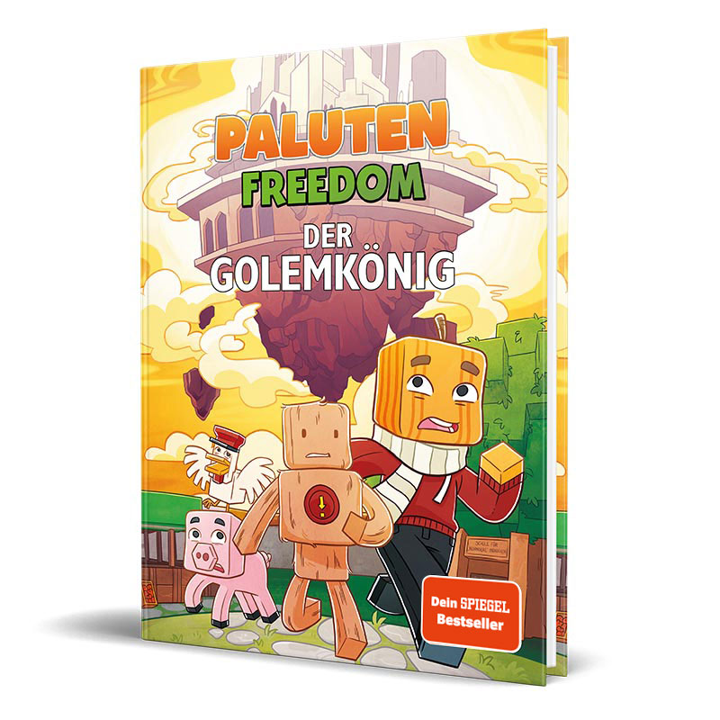 Cover vom Roman von Lets Player Paluten - Der Golemkönig