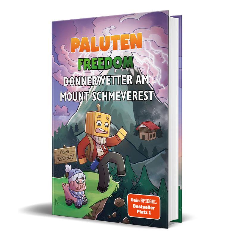 Cover vom Roman von Lets Player Paluten - Donnerwetter am Mount Schmeverest