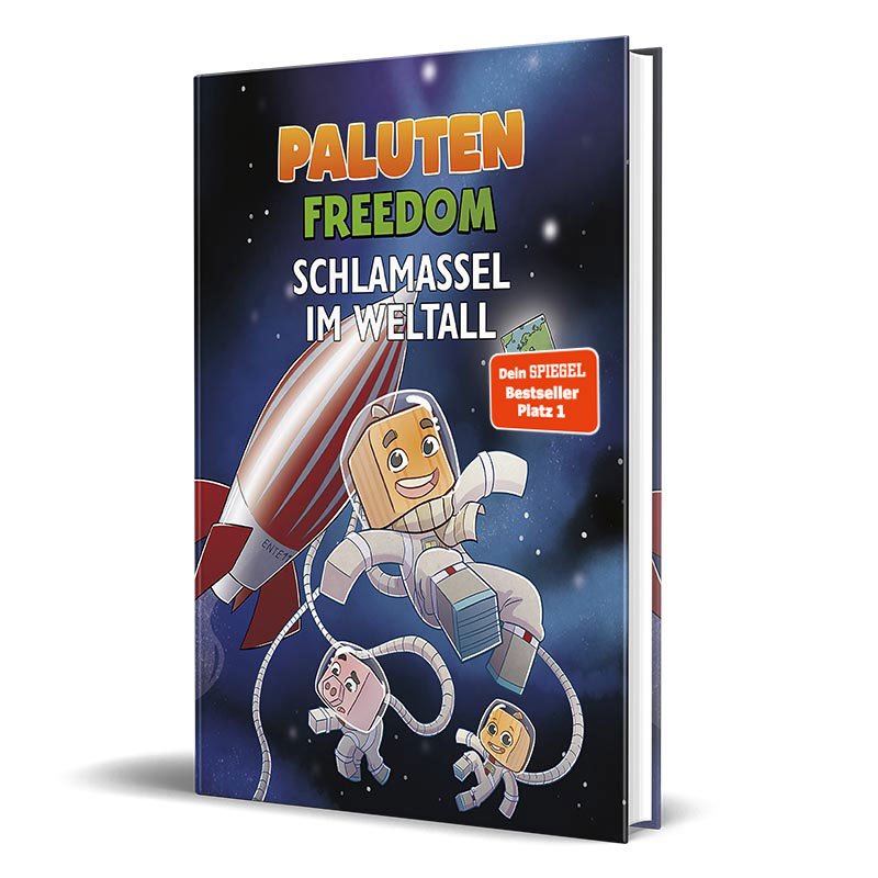 Cover vom Roman von Lets Player Paluten - Schlamassel im Weltall