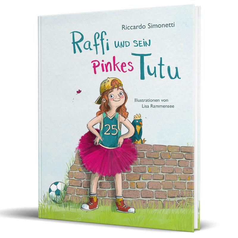 """Cover vom Kinderbuch """"Raffi und sein Pinkes Tutu"""""""