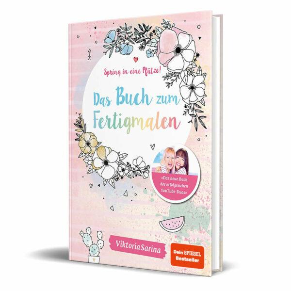 Cover vom Mitmachbuch von ViktoriaSarina - Das Buch zum Fertigmalen