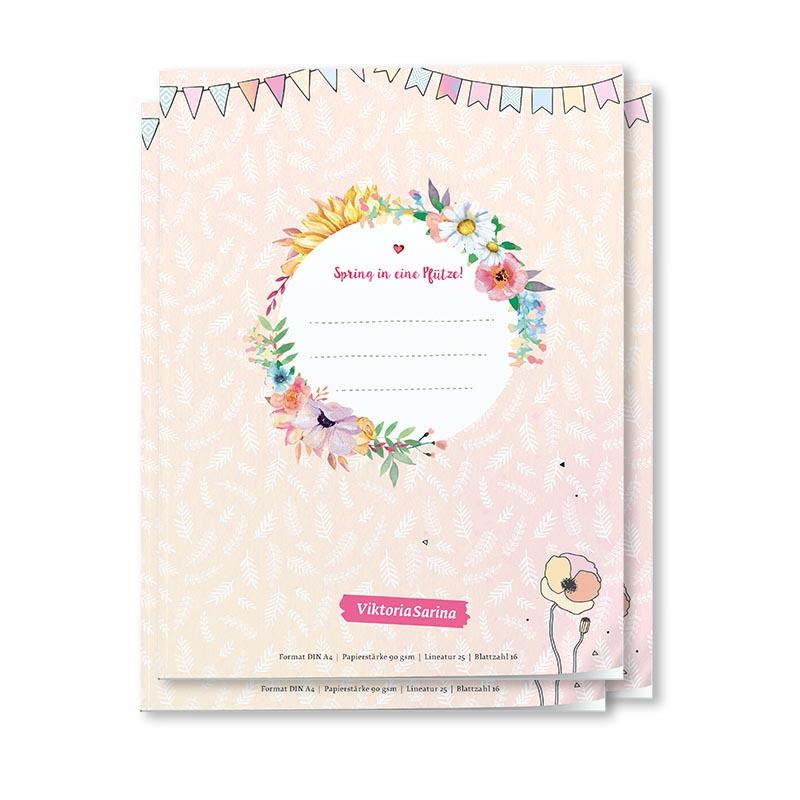 Cover von Linierten Schulheften von ViktoriaSarina - Spring in eine Pfuetze!