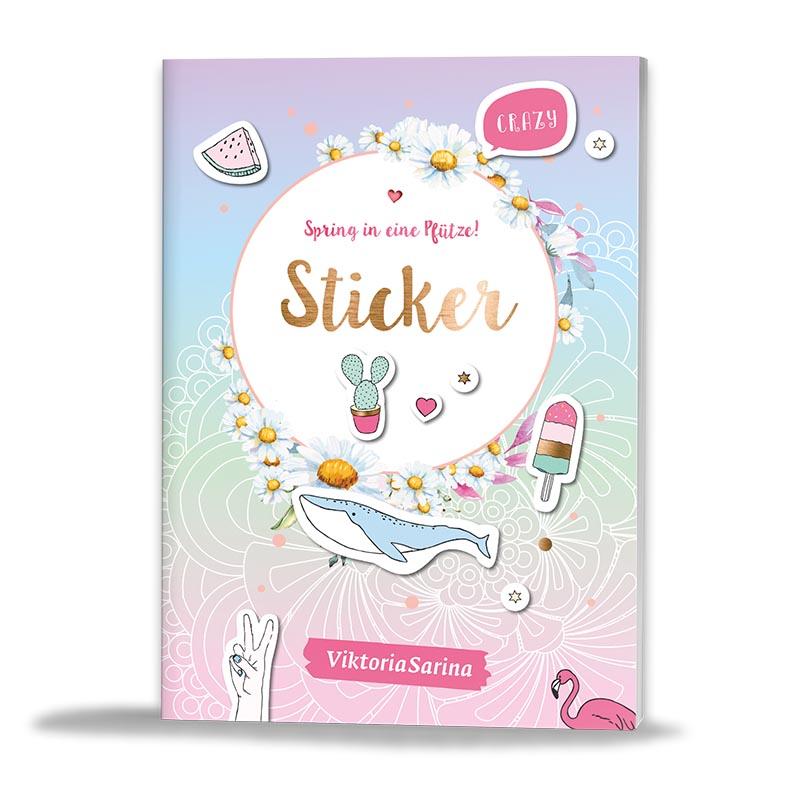 Sticker von ViktoriaSarina - Spring in eine Pfuetze!