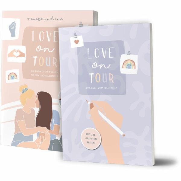 Cover vom Bundle mit Notizbuch und Buch von Coupleontour - Love on tour