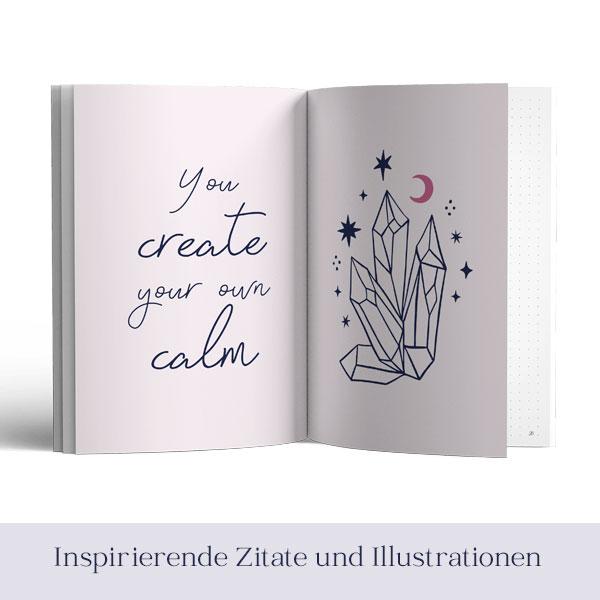 Sara Isabel Journal Innenansicht mit Illustration