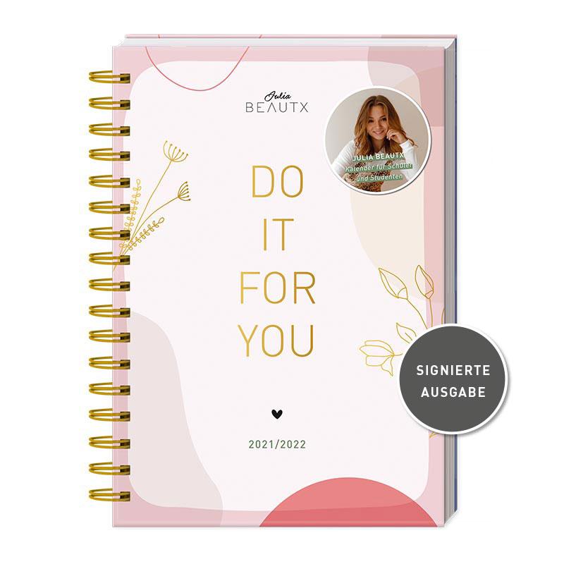 Signierter Kalender 2021/2022 von Influencerin Julia Beautx - Do it for you