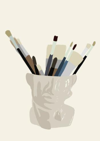 Kunst Illustration von Influencerin I'mJette