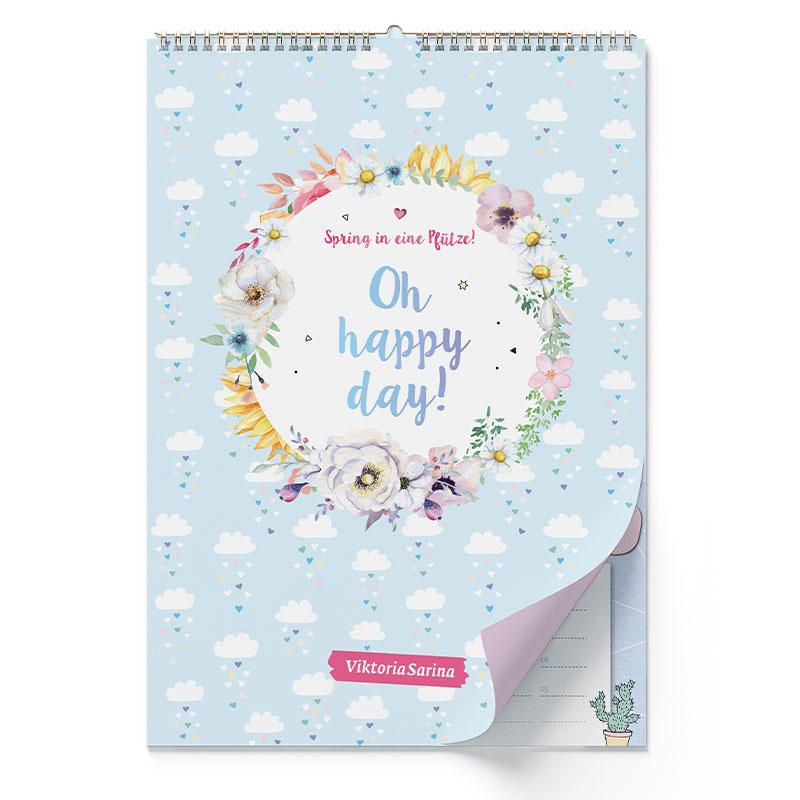 Wandkalender von ViktoriaSarina: Spring in eine Pfütze! Oh happy day!