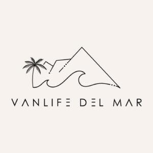 Vanlife Del Mar Footergrafik mit Logo