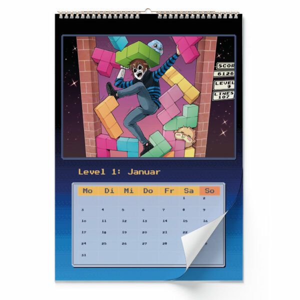 Innenansicht vom Wandkalender von GermanLetsPlay: Januar