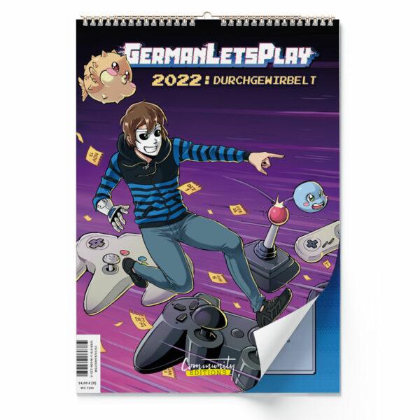 Cover vom Wandkalender 2022 von GermanLetsPlay